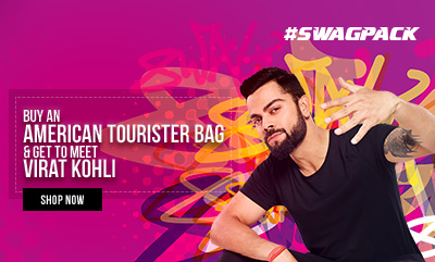Buy an AMERICAN TOURISTER bag & Get to meet Virat Kohli