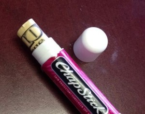 Use Chapstick to Store   Valuables